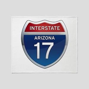 Interstate 17 - Arizona Throw Blanket