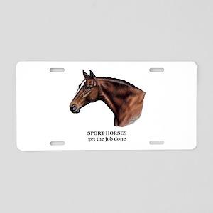 Sport Horse Aluminum License Plate