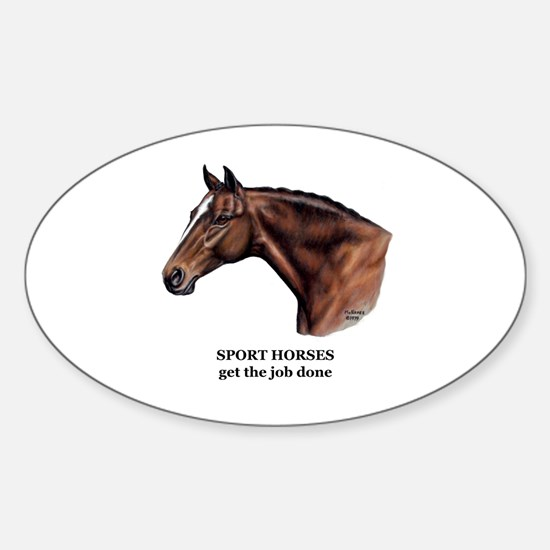 Sport Horse Sticker (Oval)