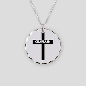 Chaplain/Cross/Inlay Necklace Circle Charm
