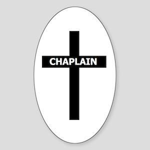 Chaplain/Cross/Inlay Sticker (Oval)