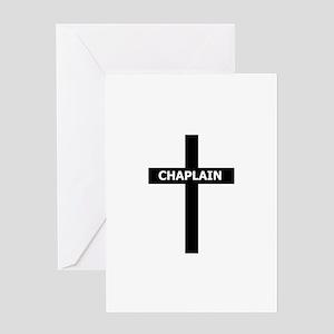 Chaplain/Cross/Inlay Greeting Card