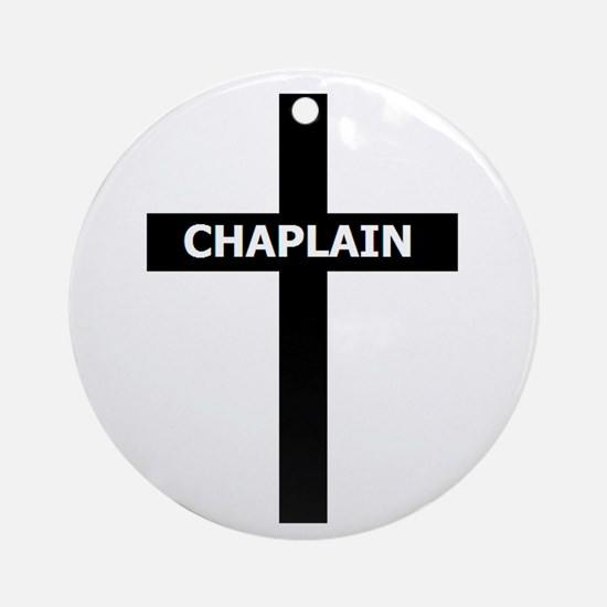 Chaplain/Cross/Inlay Ornament (Round)