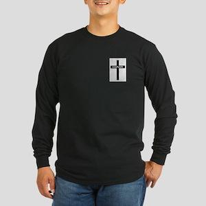 Chaplain/Cross/Inlay Long Sleeve Dark T-Shirt