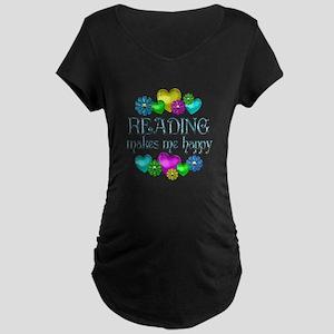 Reading Happiness Maternity Dark T-Shirt