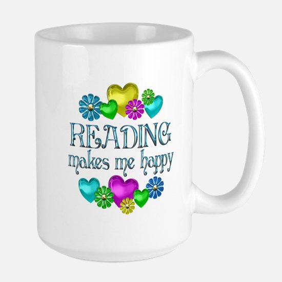 Reading Happiness Large Mug