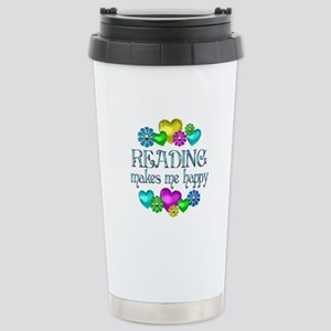 Reading Happiness Stainless Steel Travel Mug