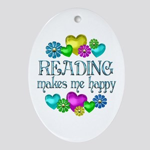 Reading Happiness Ornament (Oval)