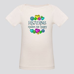 Reading Happiness Organic Baby T-Shirt