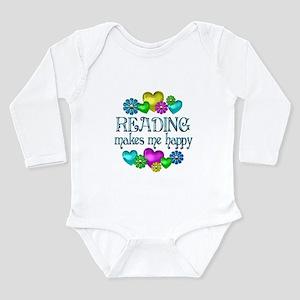Reading Happiness Long Sleeve Infant Bodysuit