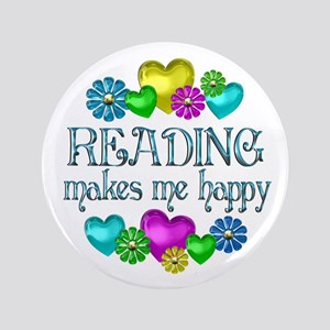 """Reading Happiness 3.5"""" Button"""