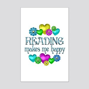 Reading Happiness Mini Poster Print