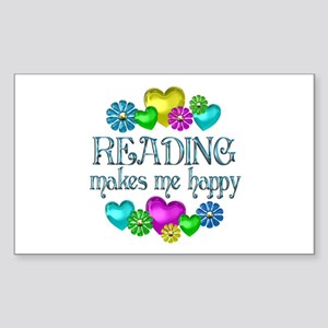 Reading Happiness Sticker (Rectangle)