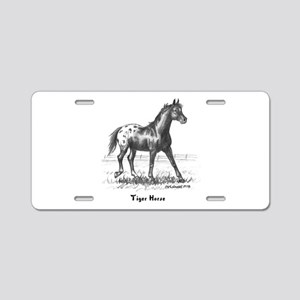 Tiger Horse Aluminum License Plate