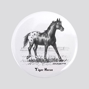"Tiger Horse 3.5"" Button"