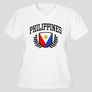 Philippines Flag Women's Plus Size V-Neck T-Shirt