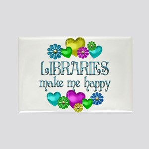 Library Happiness Rectangle Magnet