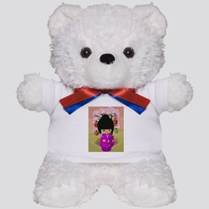 Cute kawaii pink dress kokeshi Teddy Bear