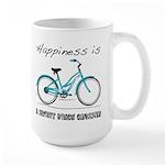 Happiness is a Beach Cruiser Large Mug