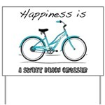 Happiness is a Beach Cruiser Yard Sign