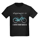 Happiness is a Beach Cruiser Kids Dark T-Shirt