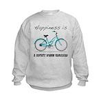 Happiness is a Beach Cruiser Kids Sweatshirt