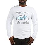 Happiness is a Beach Cruiser Long Sleeve T-Shirt