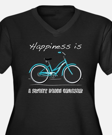 Happiness is a Beach Cruiser Women's Plus Size V-N