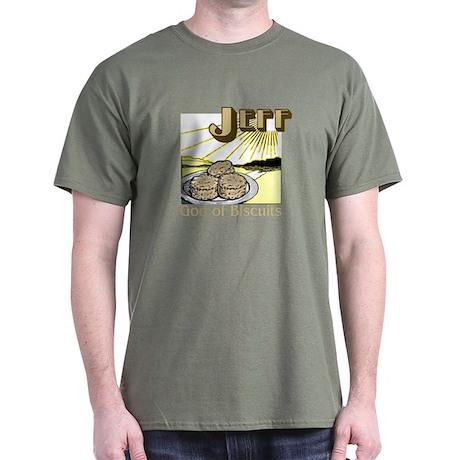 Jeff, God of Biscuits Dark T-Shirt