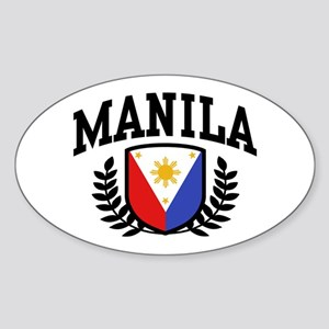 Manila Philippines Sticker (Oval)