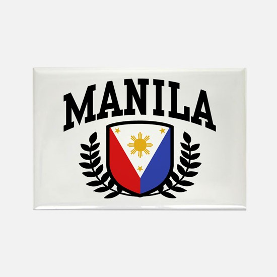Manila Philippines Rectangle Magnet