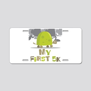 My First 5K Turtle Aluminum License Plate