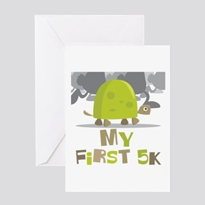 My First 5K Turtle Greeting Card