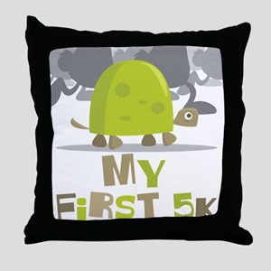 My First 5K Turtle Throw Pillow