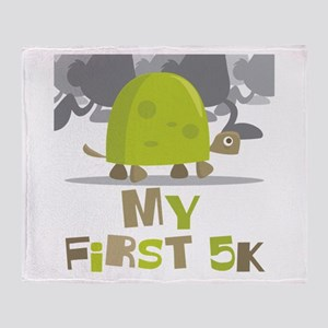 My First 5K Turtle Throw Blanket