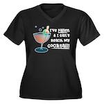 I've Fallen Women's Plus Size V-Neck Dark T-Shirt