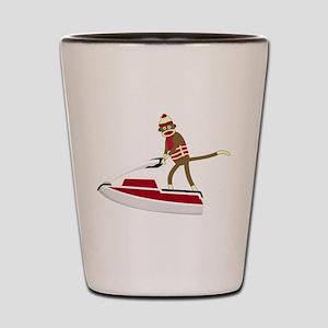 Sock Monkey Jet Ski Shot Glass