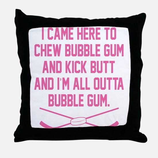 Unique Girls hockey Throw Pillow