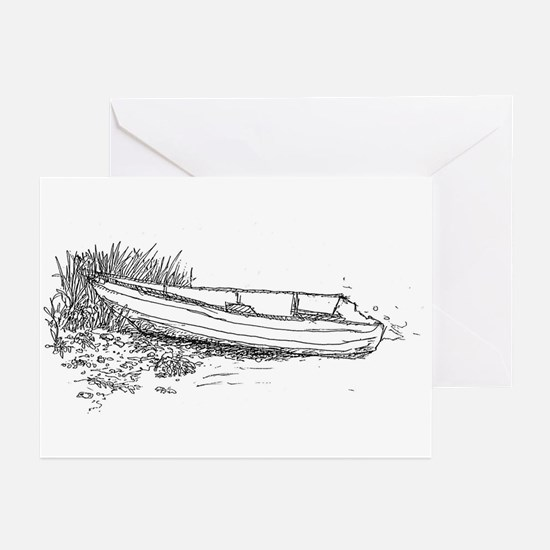 Boat drawing Greeting Cards