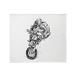 Pen & Ink Motocross Throw Blanket
