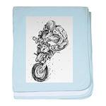 Pen & Ink Motocross baby blanket