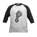 Pen & Ink Motocross Kids Baseball Jersey