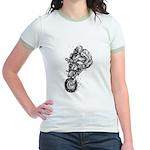 Pen & Ink Motocross Jr. Ringer T-Shirt