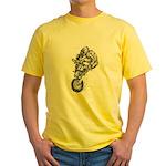 Pen & Ink Motocross Yellow T-Shirt