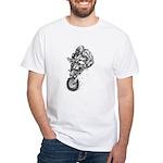 Pen & Ink Motocross White T-Shirt