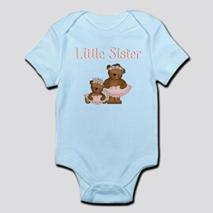 Little Sister Ballet Bear Infant Bodysuit