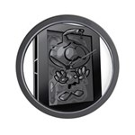 Carbon Character Wall Clock