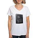 Carbon Character Women's V-Neck T-Shirt
