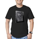 Carbon Character Men's Fitted T-Shirt (dark)