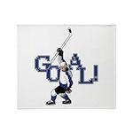 Retro Hockey Throw Blanket